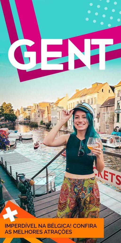 pinterest o que fazer em Gent na Bélgica, dicas e atrações