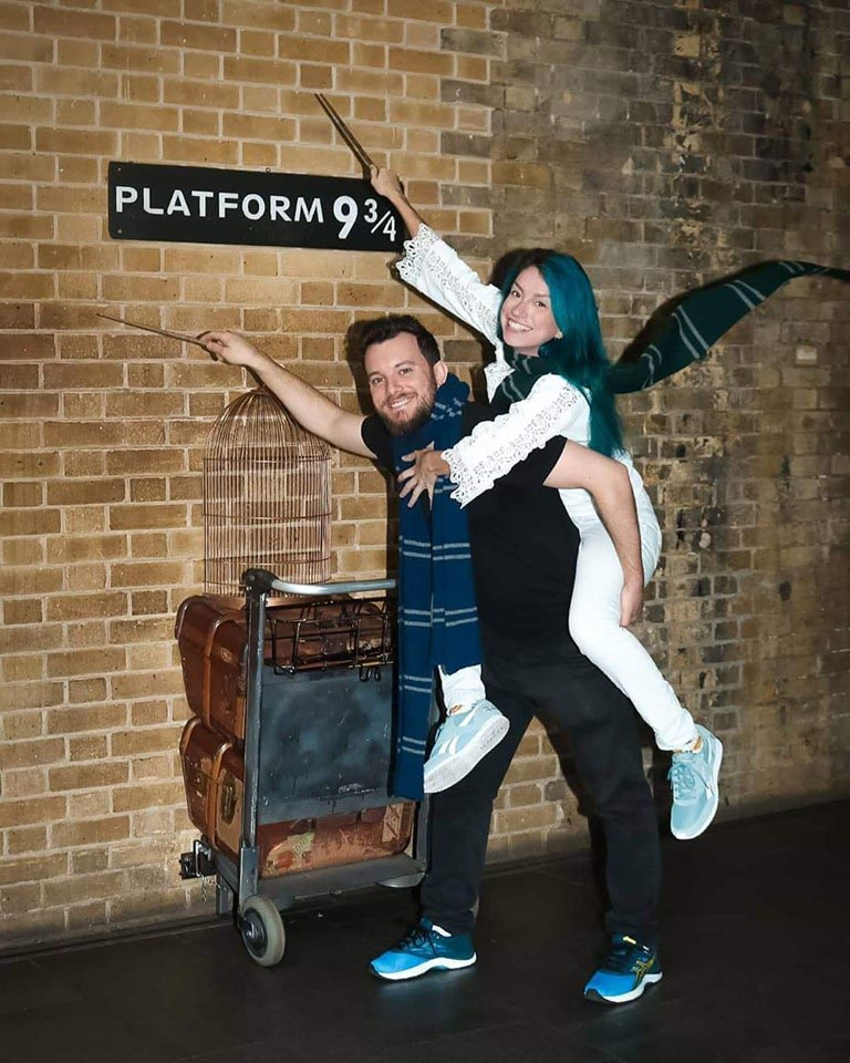 Plataforma 9 ¾ Harry Potter na King's Cross