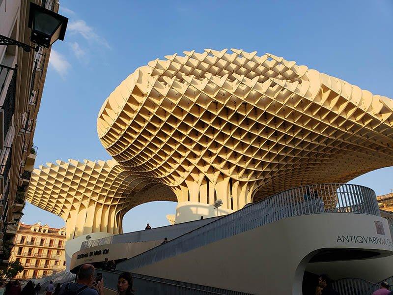 Os famosos cogumelos (setas) de Sevilha