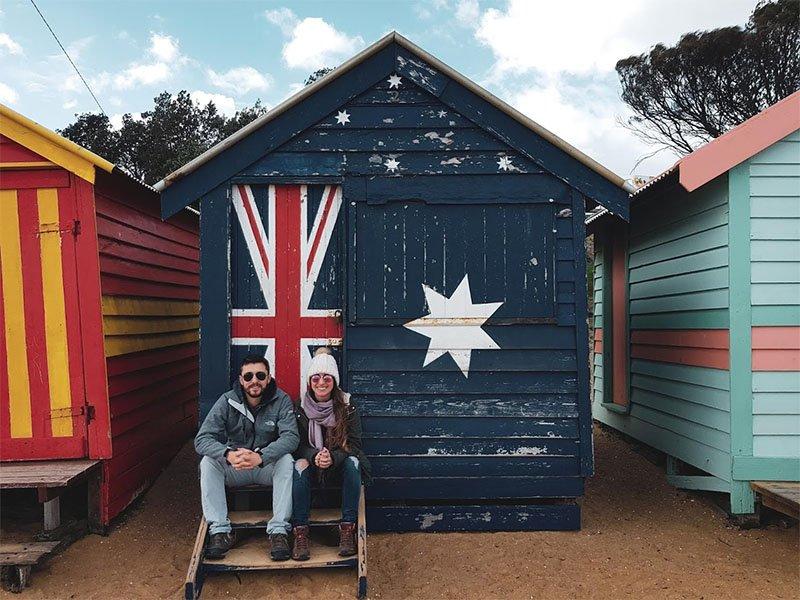 casinha para se trocar na praia australiav