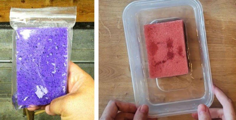 esponja congelada truques viagem de carro