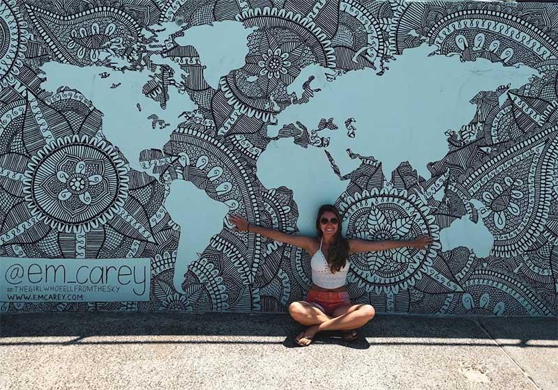 muro grafite mapa mundi australia