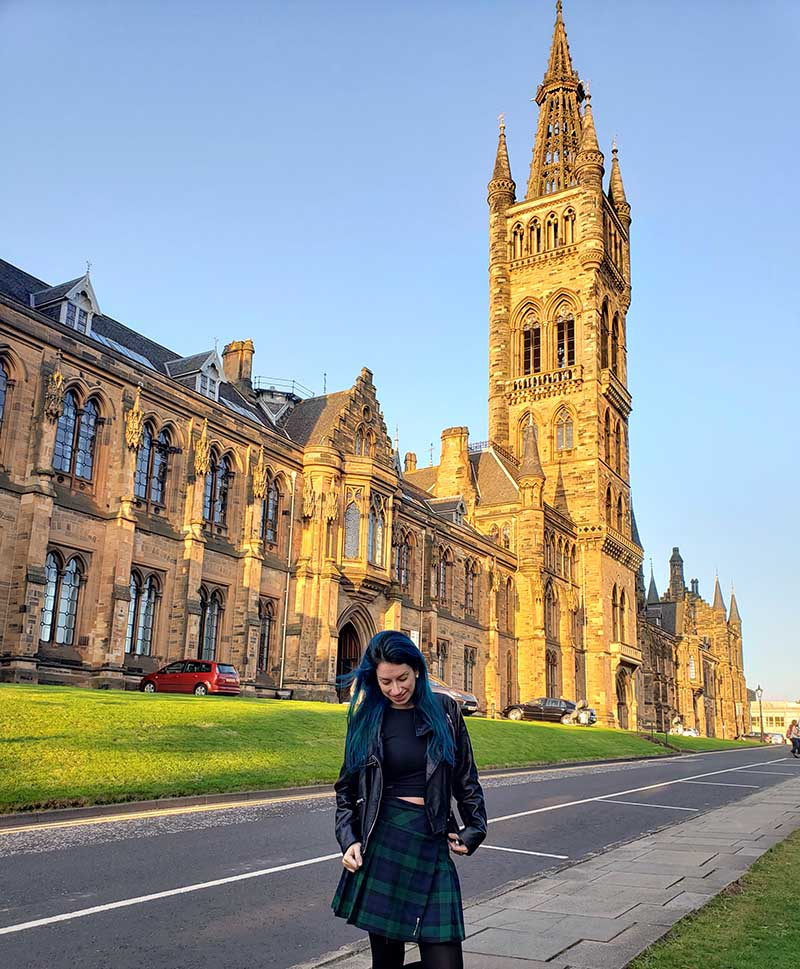 torre da universidade de glasgow