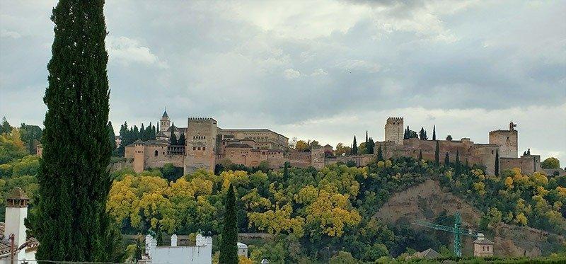 Vista de Alhambra do bairro Albaícin