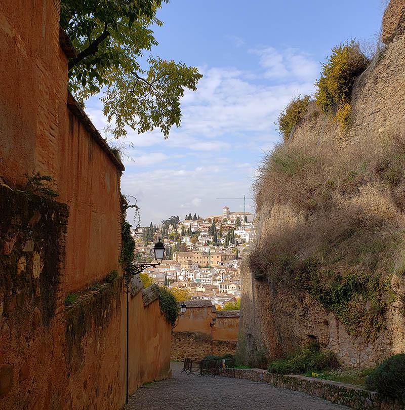 Caminho de Alhambra até o bairro Albaícin