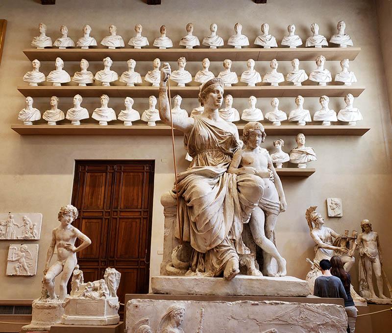 esculturas de gesso galleria della accademia em florença