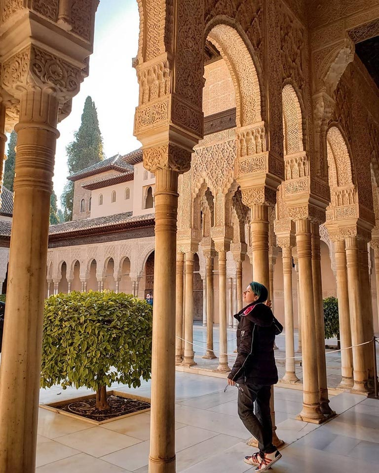 Dentro do Palácio Nazaries na Sala dos Leões