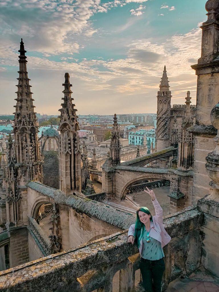Vista incrível dos telhados da Catedral de Sevilha