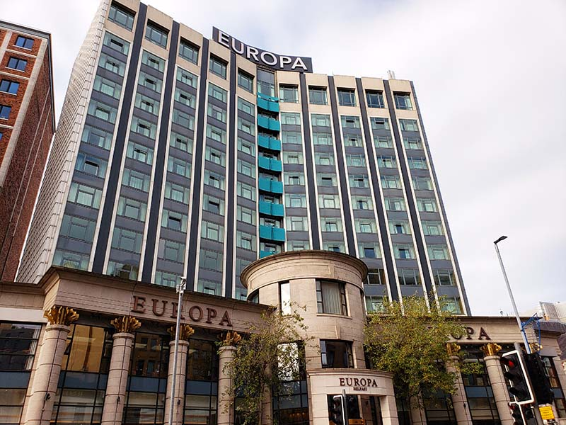 europa hotel mais bombardeado do mundo