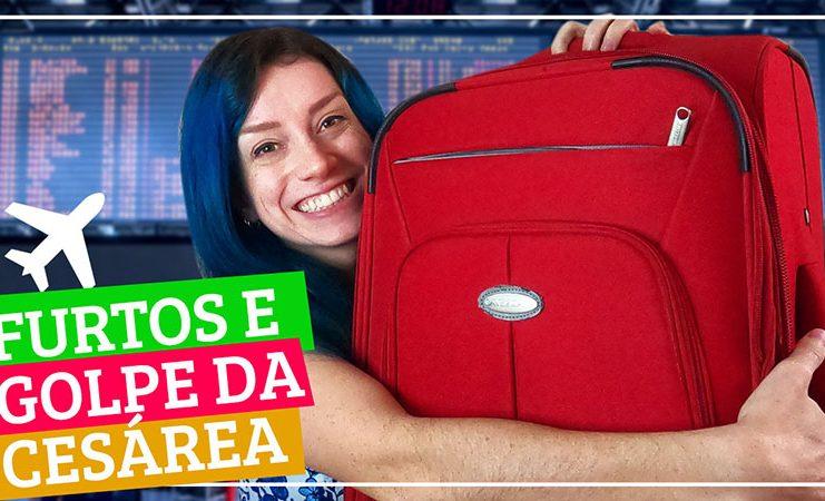 golpe da cesarea como proteger bagagem no aeroporto