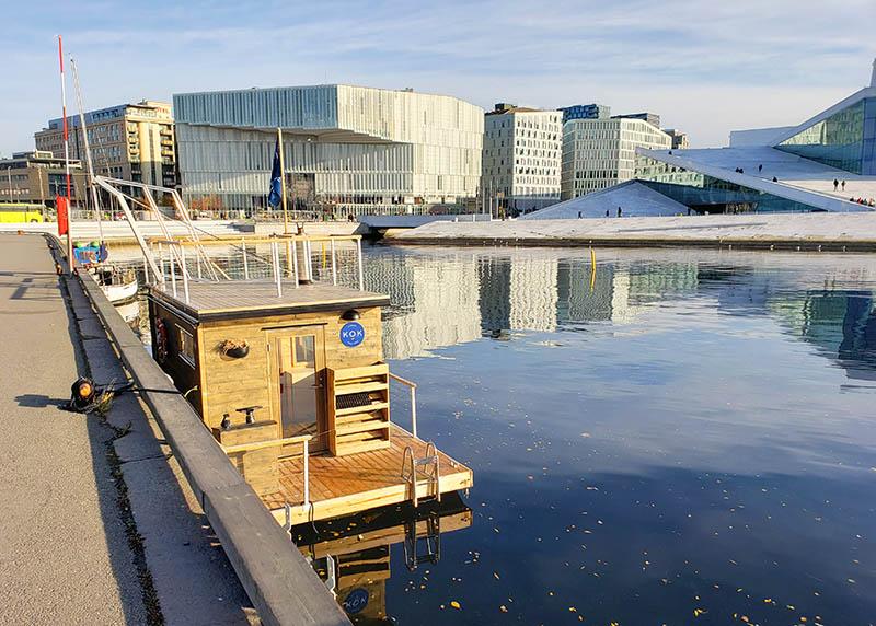 sauna flutuante fiorde noruega
