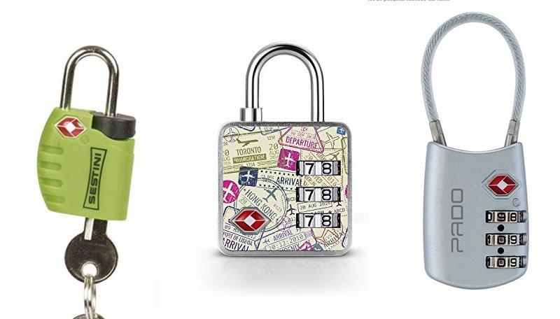 tipos de cadeado proteger bagagem