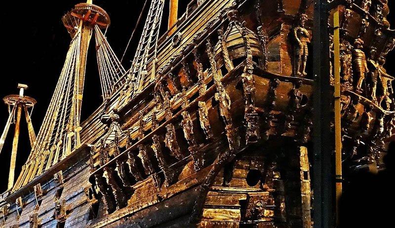 Navio Vasa dentro do museu
