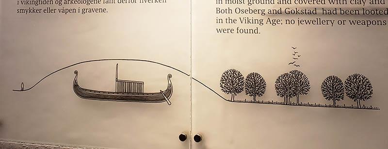 desenho navio enterrado viking noruega