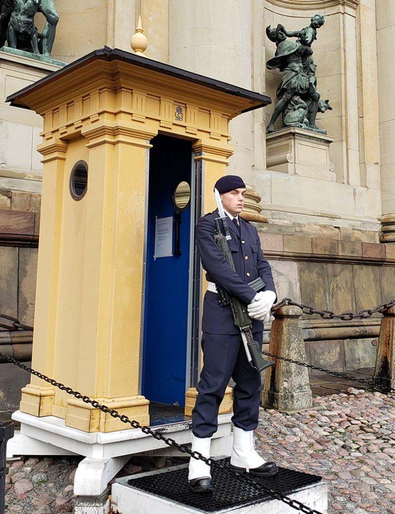 guarda real em frente ao palacio