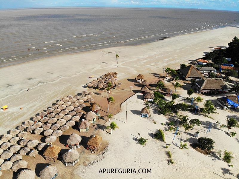 ilha de marajo praia pesqueiro drone