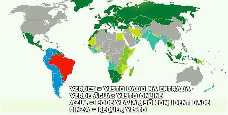 passaporte brasileiro paises que exigem visto