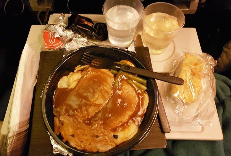 janta comida a bordo latam internacional