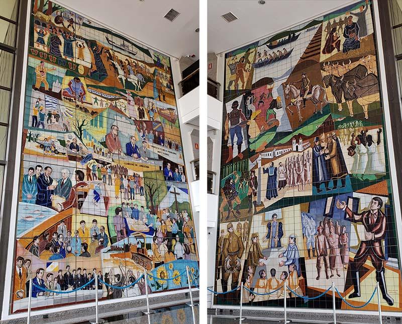 painel pintado palacio araguaia