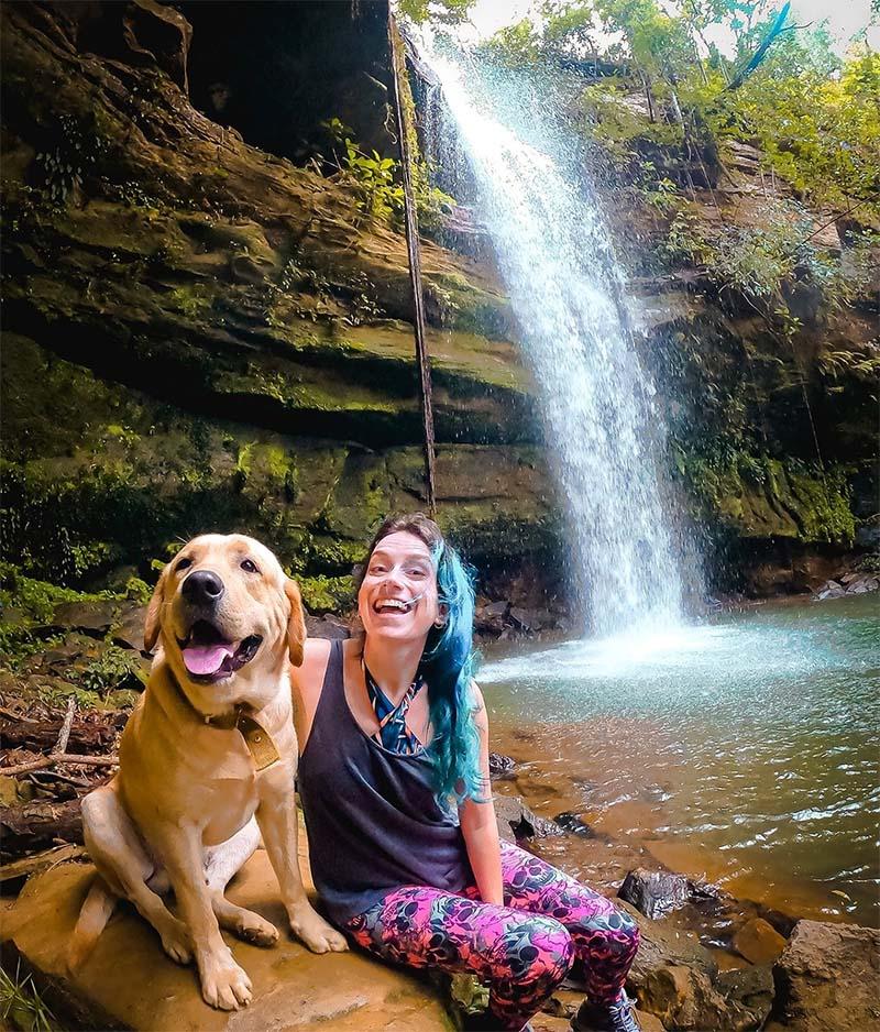 tour taquarucu cachoeira das araras cachorro