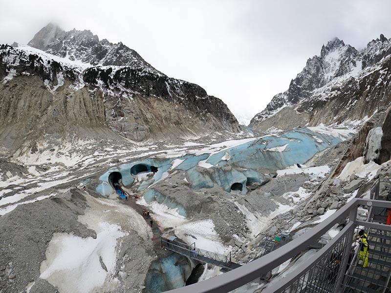 entrada do tunel de gelo geleira mer de glace