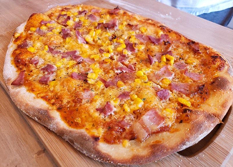receita de pizza italiana de verdade corn bacon