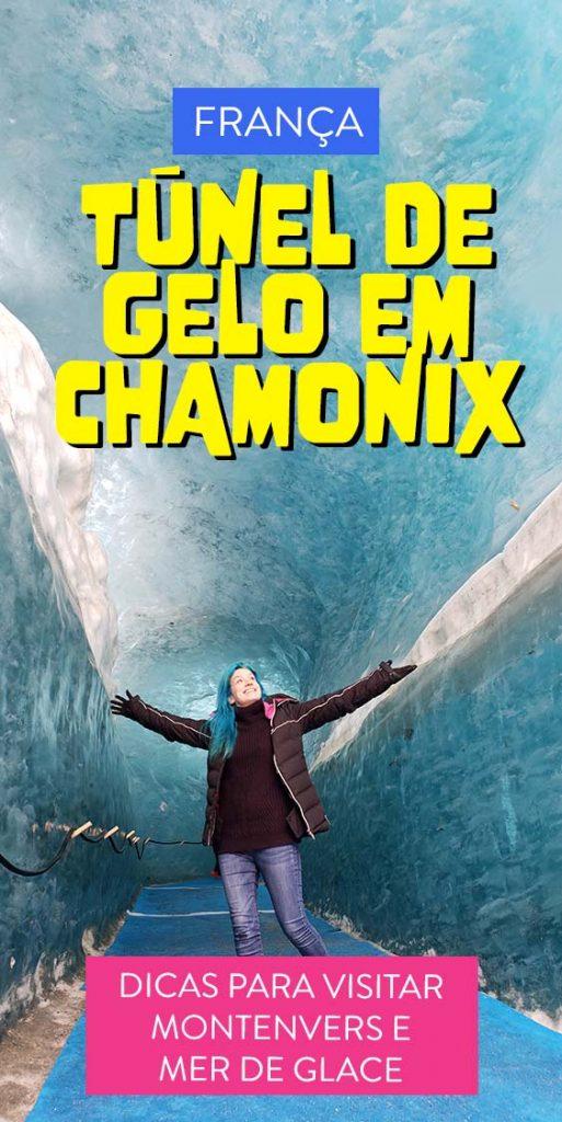 tunel de gelo em chamonix franca