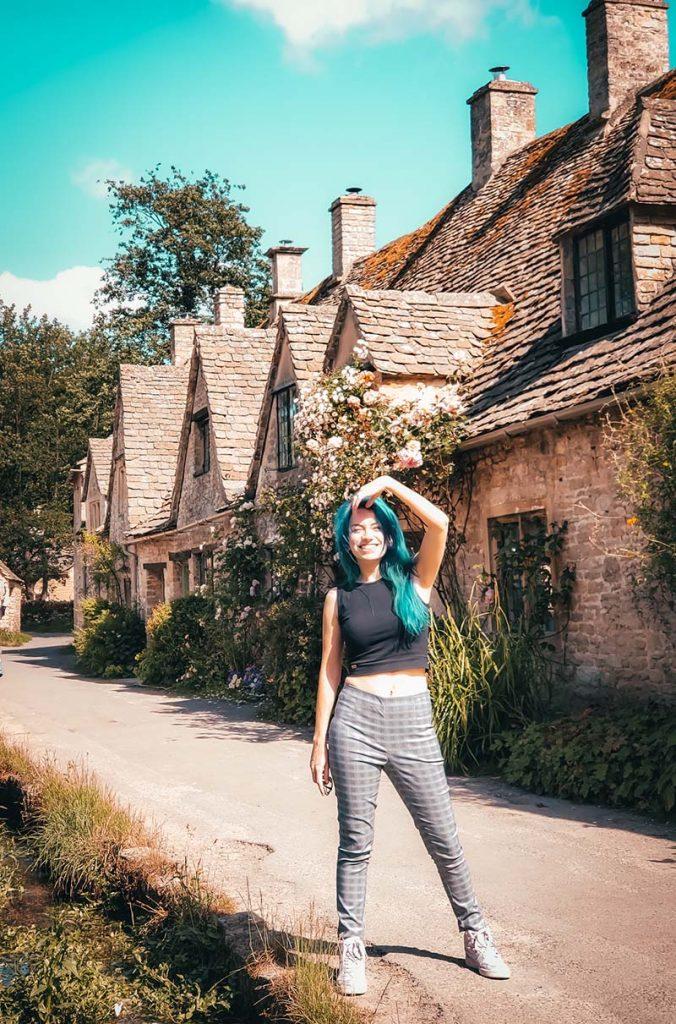 bibury arlington row casas medievais vilarejo Cotswolds