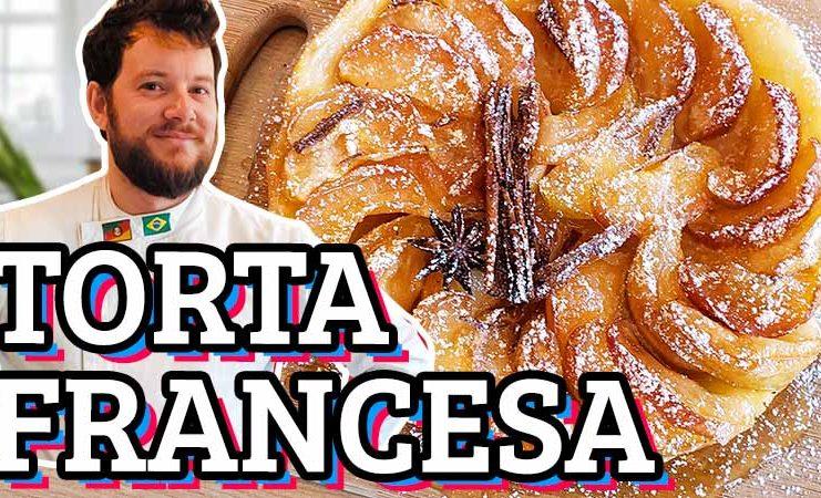 como fazer torta de maca francesa