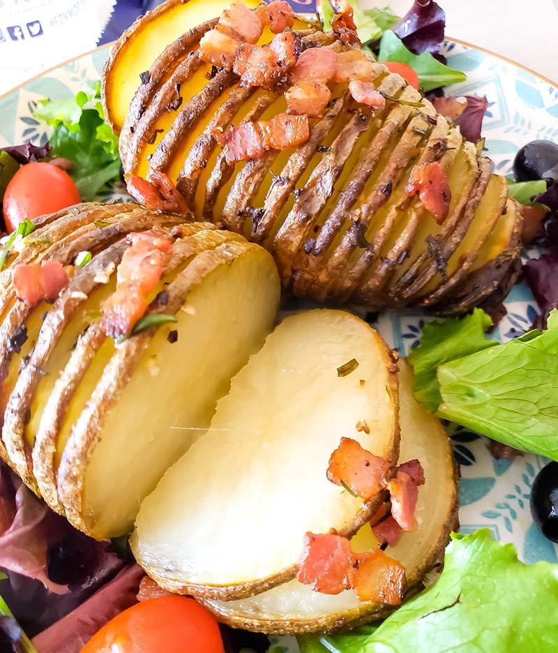 como fazer batata hasselback suecia