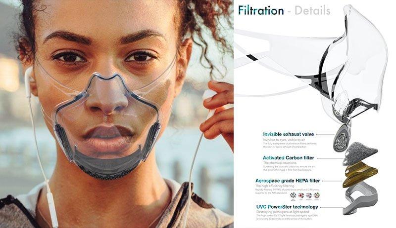 mascara transparente coronavirus invenções criativas na pandemia