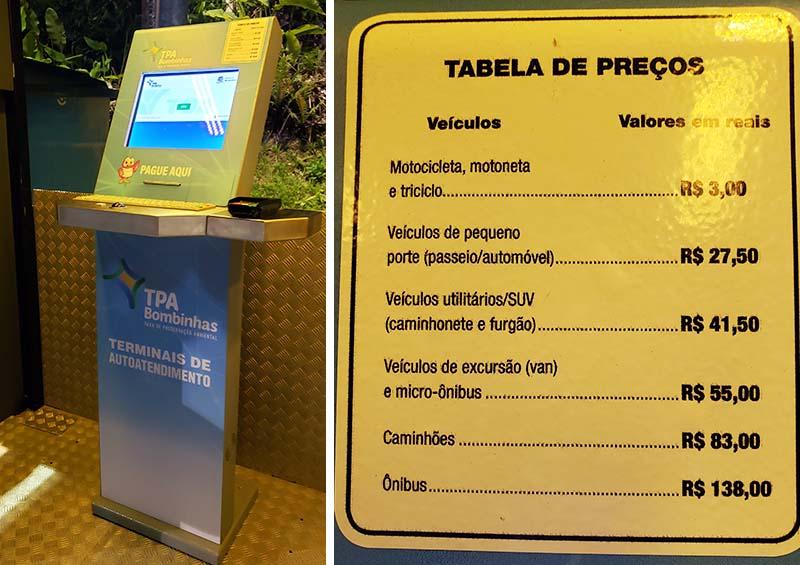 pagamento taxa preservacao ambiental bombinhas