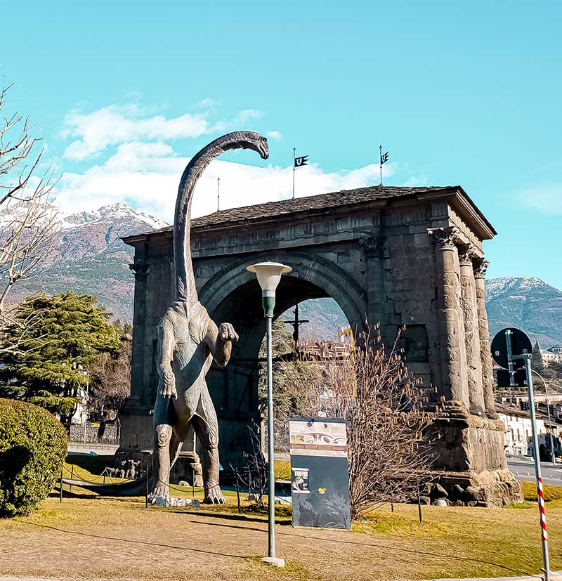 arco de augusto dinossauro