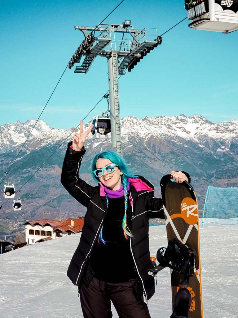 inverno neve italia snowboarding alpes pila aosta