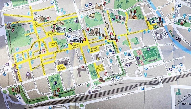 mapa atracoes turisticas aosta