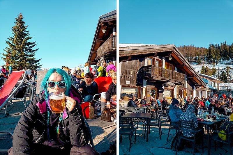 pila resort ski restaurante