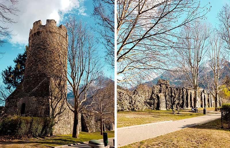 ruinas muralhas romanas vale de aosta