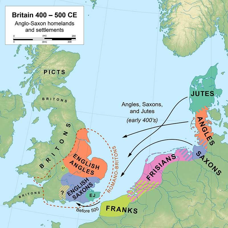 invasao anglo saxao inglaterra