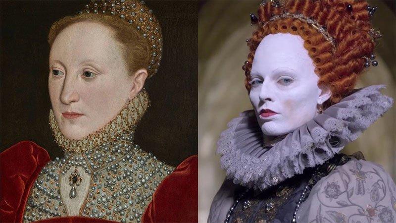 maquiagem rainha elizabeth I