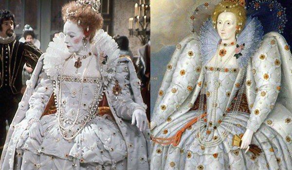 rainha elizabeth 1 vestido branco