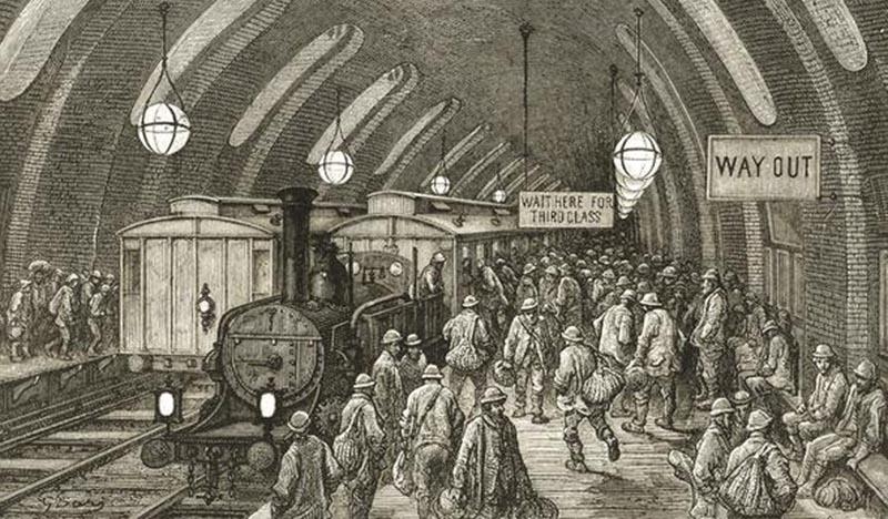 metro de londres trens a vapor