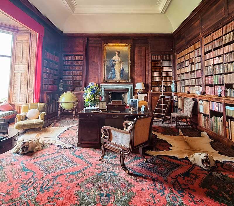biblioteca de madeira castelo