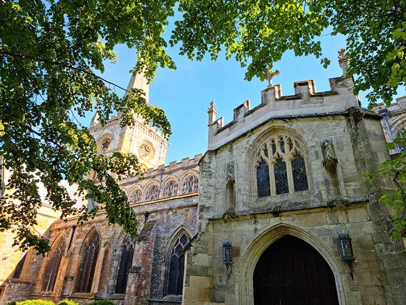 frente igreja holy trinity tumulo shakespeare