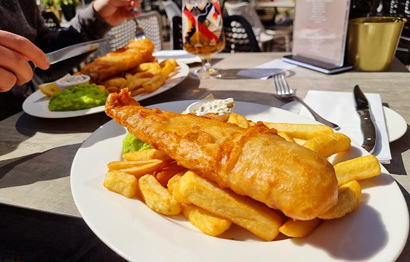 onde comer em manchester fish and chips