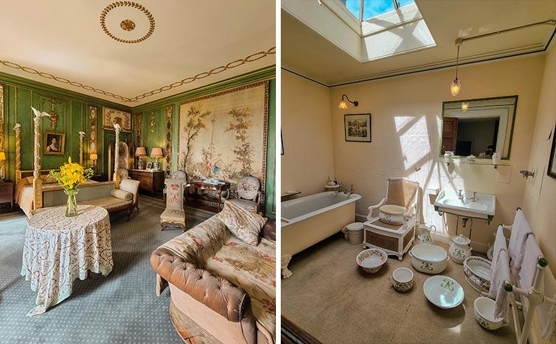 quarto verde banheiro era medieval