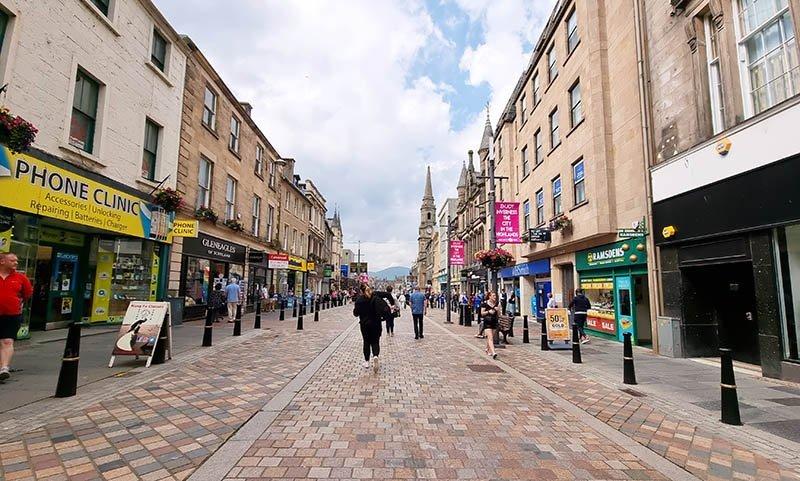 roteiro inverness lojas high street