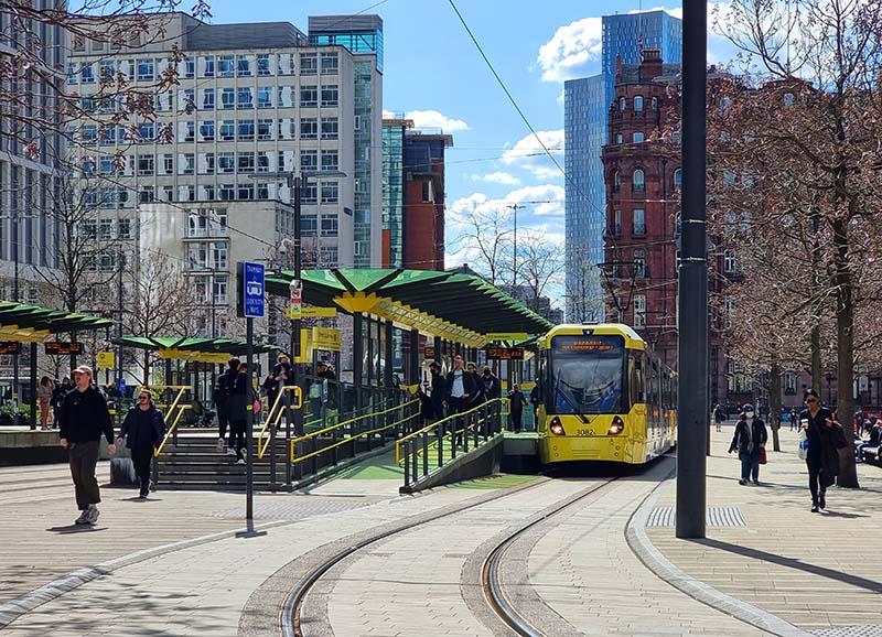 transporte centro da cidade manchester