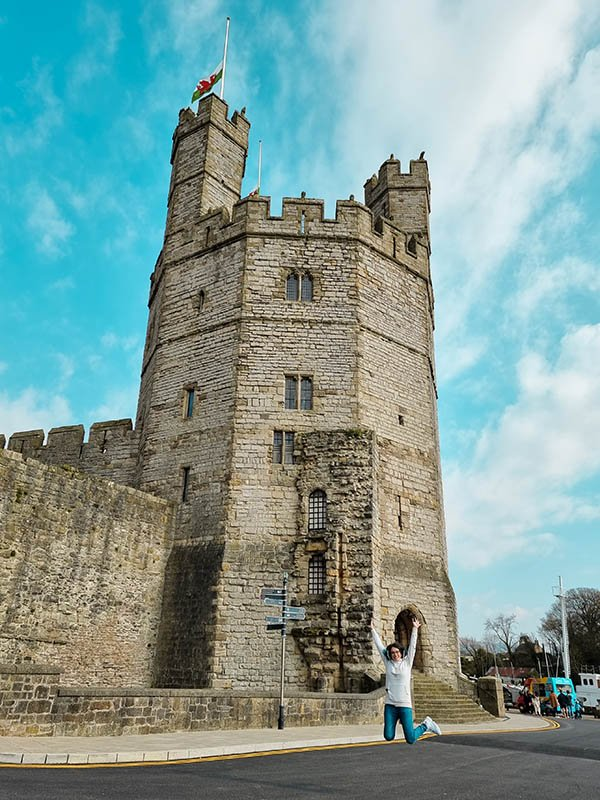torre medieval castelo caernarfon