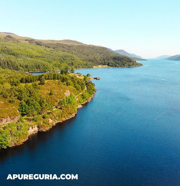 lago ness highlands da escocia