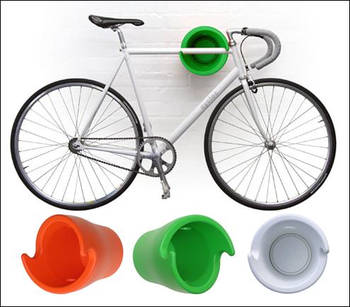 guardar a bicicleta no apartamento: sistema prático